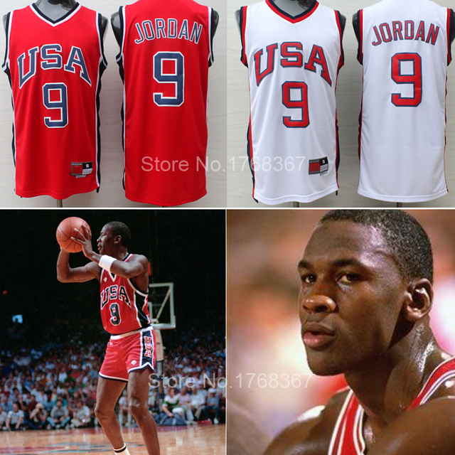 921993ad8cfe free shipping michael jordan olympic jersey 9  white red team usa  basketball jersey embroidery stitched sports shirt size s-xxl