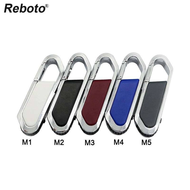 Reboto USB 2.0 Metal USB Flash Drive 2GB 1GB 512MB Pen Drive U Disk Mini Memory Stick Keychain Pendrive