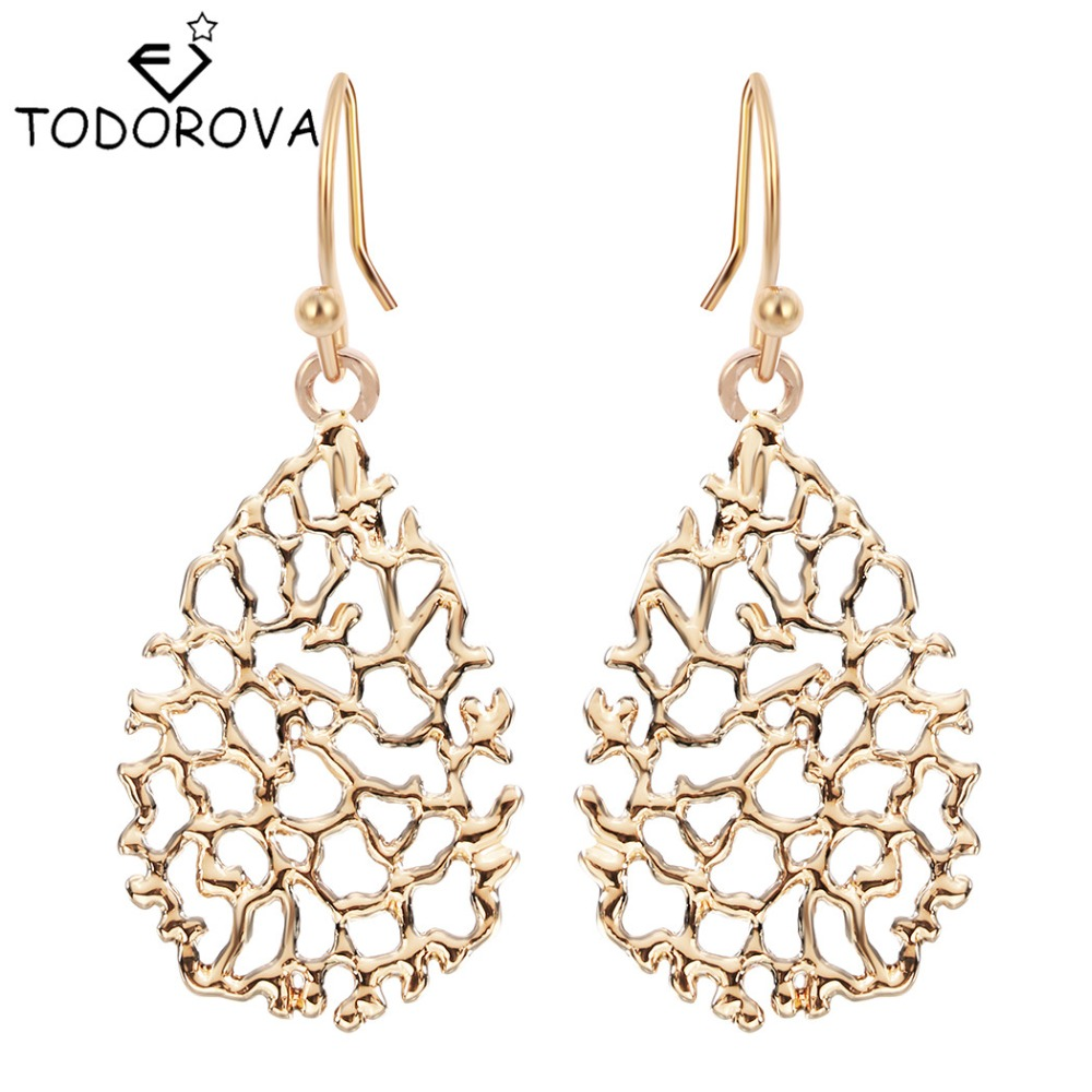 Todorova High Quality Zinc Alloy Big Water Drop Earrings for Women New Trendy pendientes mujer moda Hanging Earrings brinco