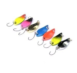 Image 3 - JTLURE 7 unids/lote 5g cuchara de pesca salmón, trucha, Señuelos de metal, señuelo de pesca invierno