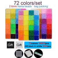 DOLLRYGA 2.6mm hama beads 42000pcs/set 72 colors Perler Diy Puzzle High Quality juguetes Girls Gift Kids Craft Toys for Children