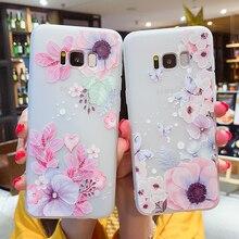 Case For Samsung Galaxy J2 J3 J5 J7 2016 2017 Prime J4 J6 2018 3D Relief Floral Soft TPU Silicone