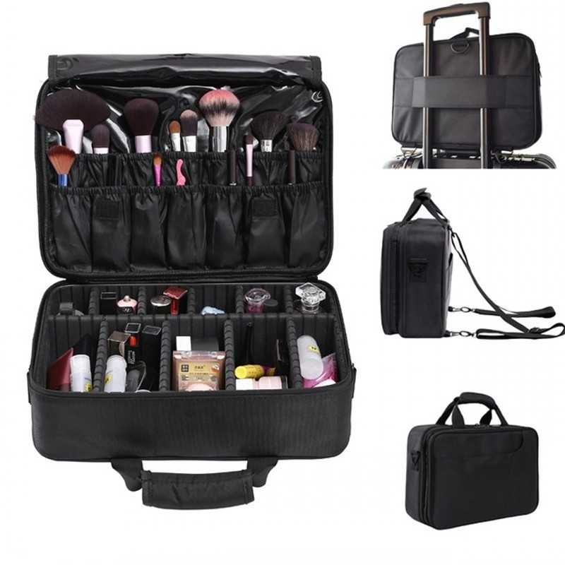 SAFEBET Makeup-Case-Organizer Cosmetic-Bag Professional Big-Capacity Waterproof Women