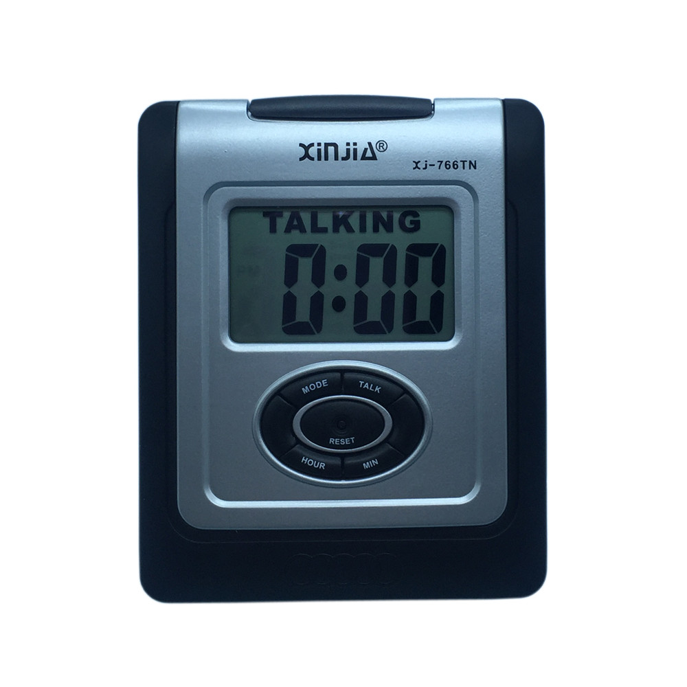 Spanish Talking LCD Digital Alarm Clock For Blind Or Low Vision Pyccknn With Big Time Display And Lound Talking Voice