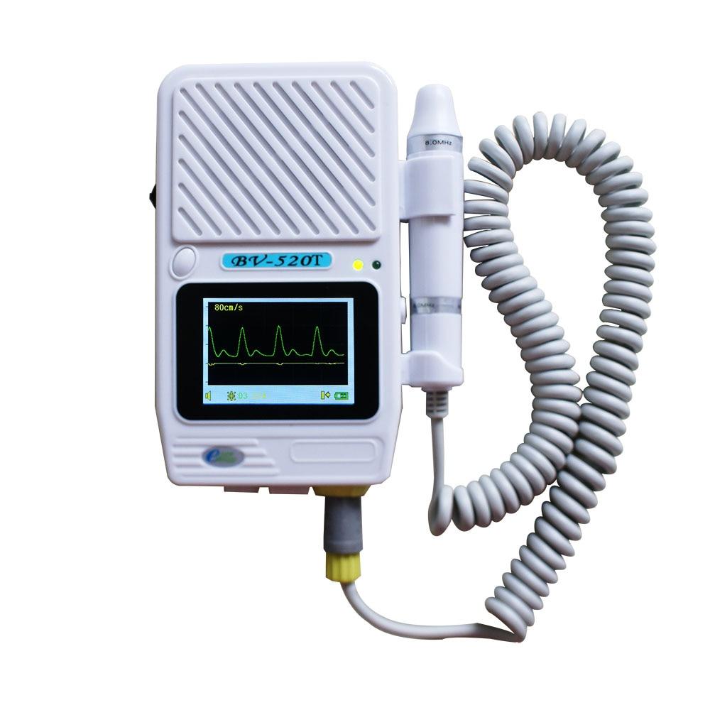 Двупосочен съдов доплеров LCD дисплей на кръвния поток BV520T плюс доплеров васкуларен ултразвук 8Mhz сонда Здравеопазване