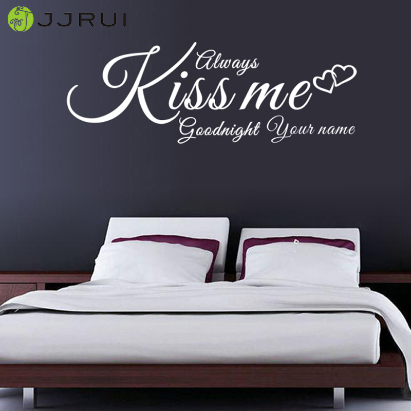 Always Kiss Me Goodnight Wall Art goodnight stickers promotion-shop for promotional goodnight