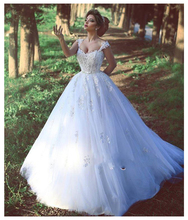 SoDigne Classic Wedding Dress Lace Appliques Bride 2019 Backless Zipper White/Lvory Dresses Long Train