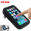 6 inch Bicycle Frame Bike Phone Mount Holder Waterproof Bag with Handlebar Bracket Mount Base for Samsung for iphone 6