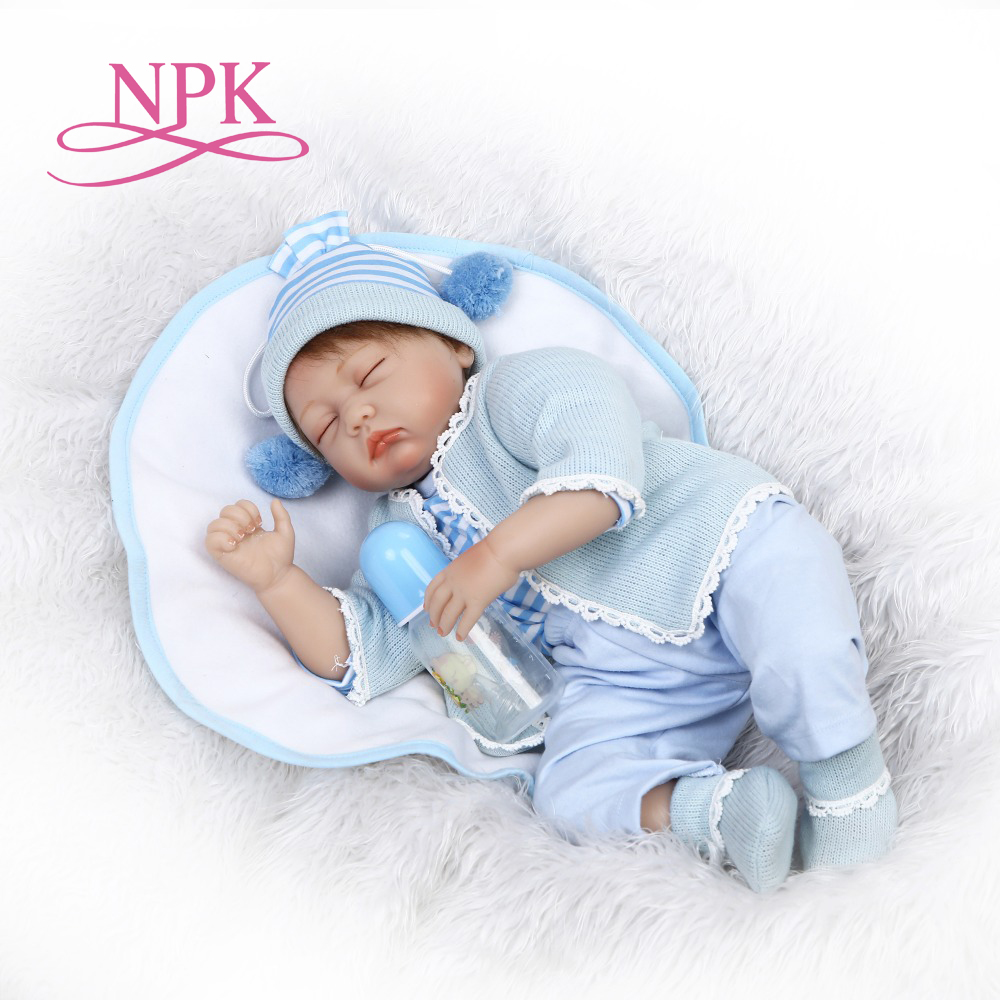 NPK 22inches 55CM silicone reborn doll Bonecas Baby Reborn realistic magnetic pacifier bebe doll reborn for