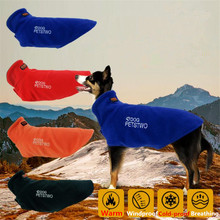 цена Outdoor Sports Big Dog Coat Warm Windproof Large Pet Jacket Fleece Cloak Outfits Clothes Outerwear For Medium Pet Dog(S-XXXL)