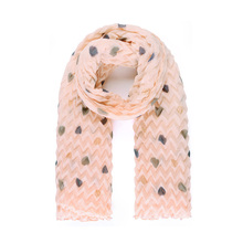 67c281bbe Rosa arrugado plisado lunares brillo punto estampado bufanda con perlas  tamaño grande bufanda larga tela suave