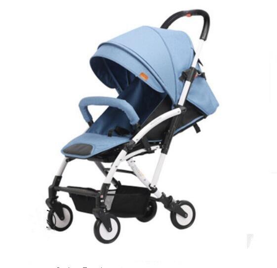 Haut paysage poussette lumière portable avec pliage peut s'asseoir inclinable poussette enfants main pousser BB voiture en alliage d'aluminium poussette