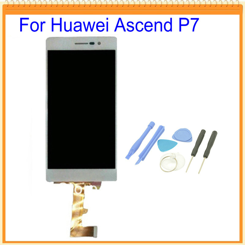 For Huawei Ascend P7 LCD Screen Display with Touch Screen Digitizer Assembly Black White Colors Tools
