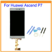 For Huawei Ascend P7 LCD Screen Display with Touch Screen Digitizer Assembly Black White Colors +Tools Free shipping