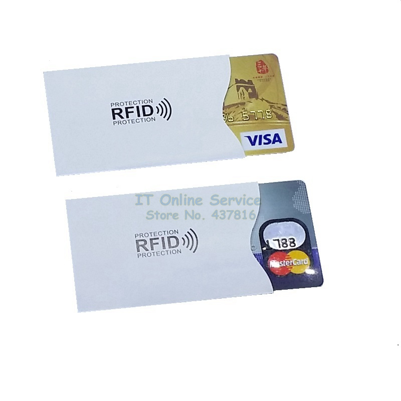 2PCS/lot IC Card Protection Sheath RFID Shielded Card Sleeve NFC security card prevent unauthorized scanning Color white