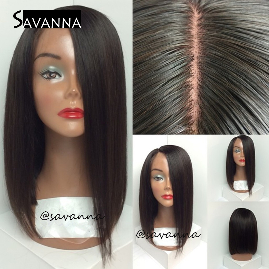 Short Bob Haircut Brazilian Virgin Hair Wigs For Black