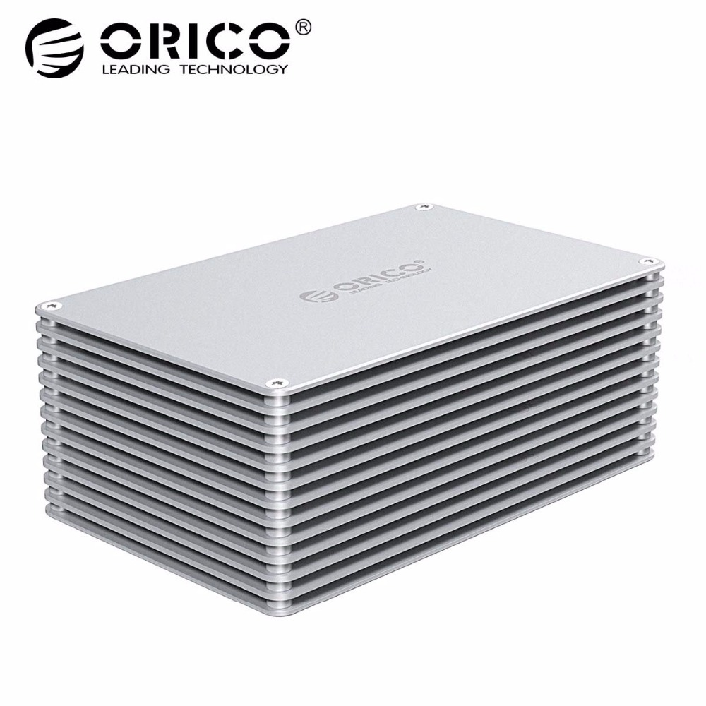 ORICO HDD Case Type-C DIY 2.5 3.5 Inch Hard Drive Enclosure Aluminum Alloy Hard Disk Drive Box For Samsung Seagate Support 20TB