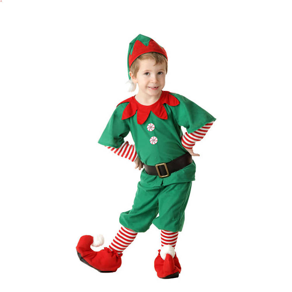 22f0f5565aa ... Family Matching Outfits Adult Child Santa Claus Helper Green Holiday  Elf Christmas Clothes Sweet Red Dress ...