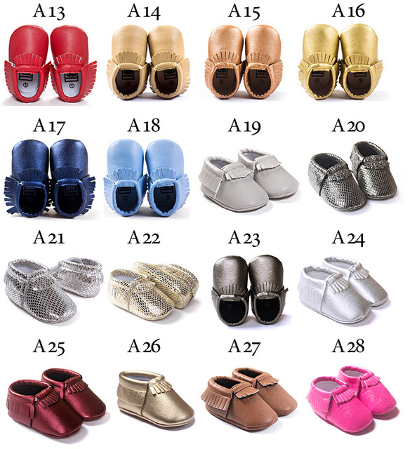 2019 Tassels 28-Color PU Leather Baby Shoes Baby Moccasins Newborn Soft Infants Crib Shoes Sneakers First Walker for boys girls 4