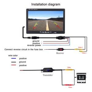 Image 3 - Podofo 2.4 GHz Không Dây Camera Phía Sau RCA Video Phát & Thu Bộ cho Chiếu Hậu Xe Ô Tô Máy Phát FM & đầu thu