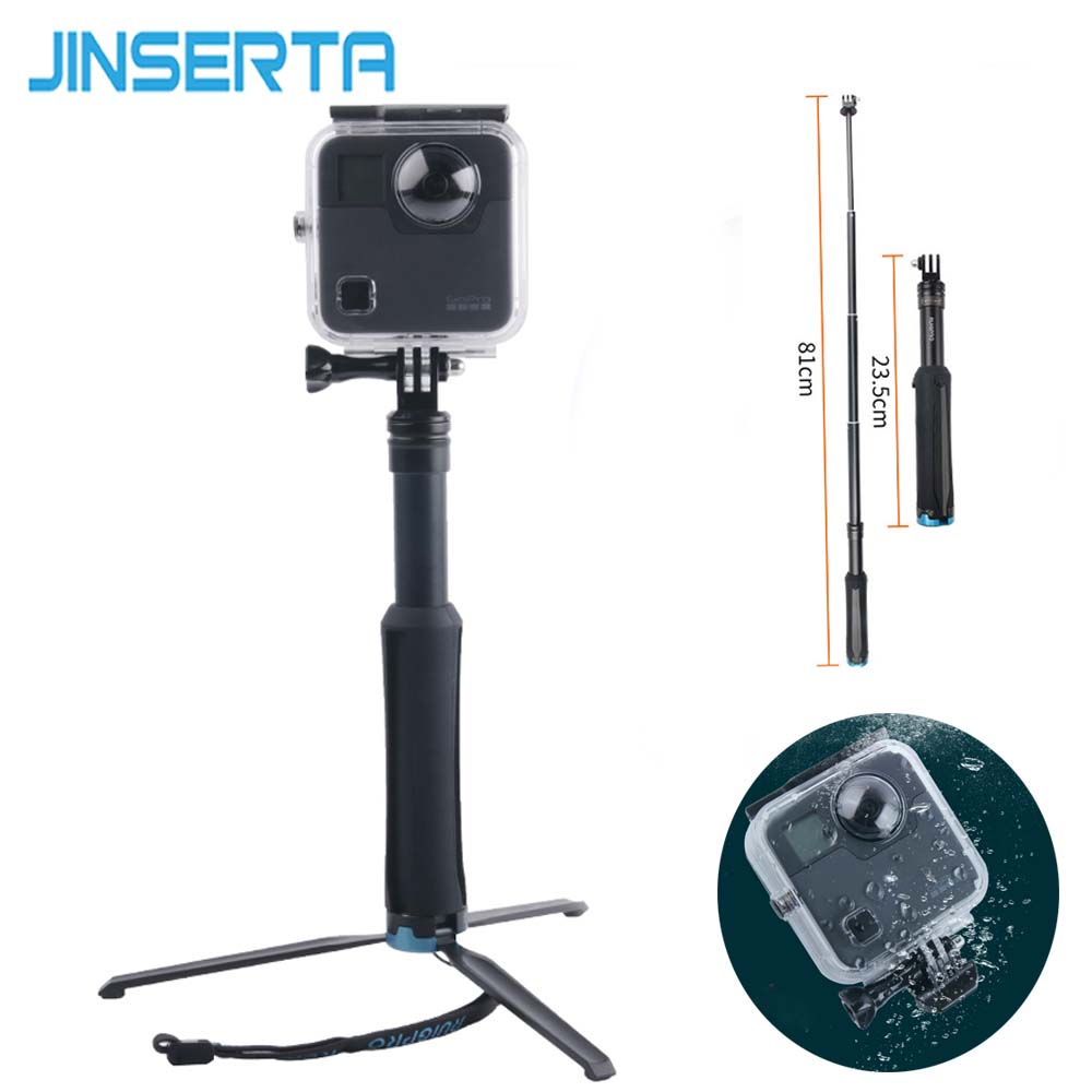 JINSERTA 45M Underwater Waterproof Case for GoPro Fusion Camera Selfie Stick Tripod Diving Housing Mount for GoPro Fusion 45m waterproof case mount protective housing cover for gopro hero 5 black edition