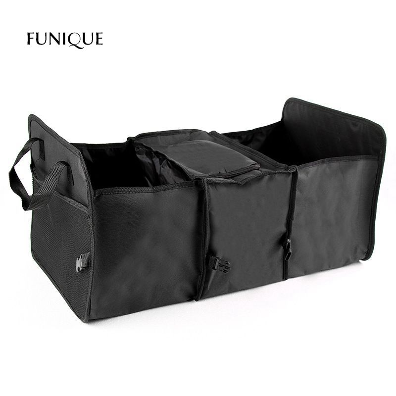FUNIQUE Car Storage Box Foldable Trunk Insulation Finishing Box Ice Pack Wealthy Package Network Pocket Section Storage Bag