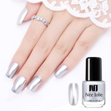 NEE JOLIE 3.5/7.5ml Mirror Nail Polish Silver Color Metallic Varnish Effect Art Lacque Manicur