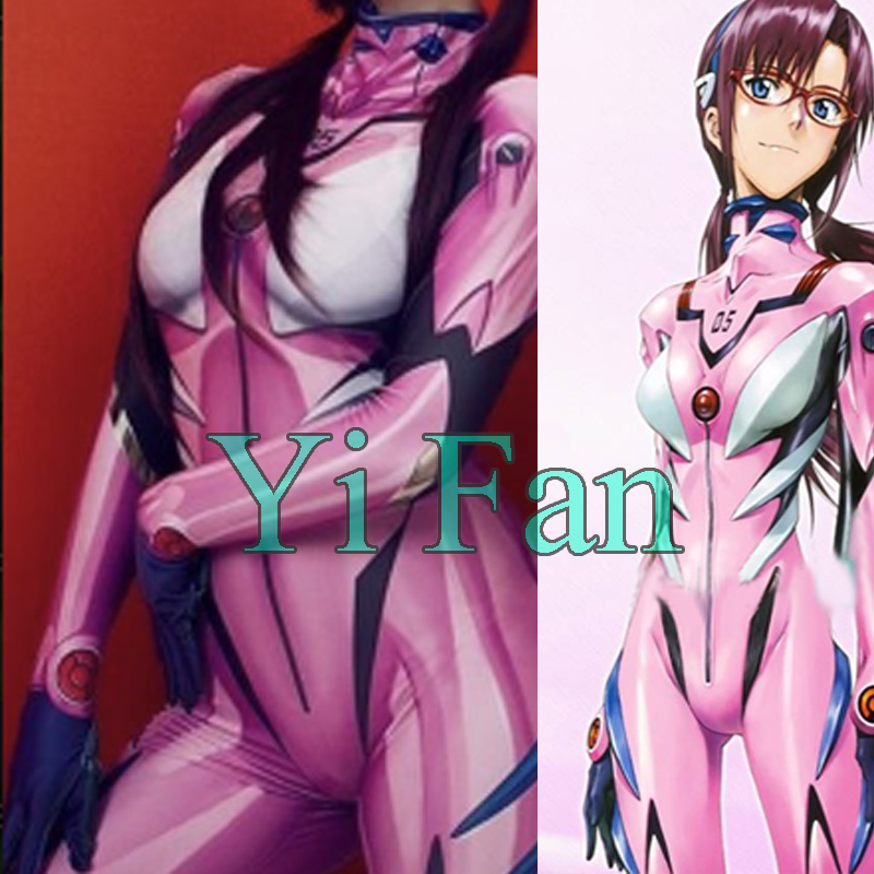 Eva Neon Genesis Evangelion Costume Mari Makinami Cosplay Suit Spandex 3D Halloween Zentai Suit