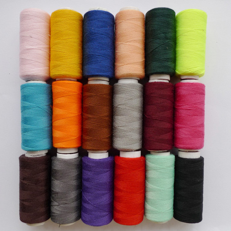 Bonanza accessories wholesale hot sale 20 kind of colour select family expenses sewing thread clew Hand sewing thread 1pcs sell 100 yard