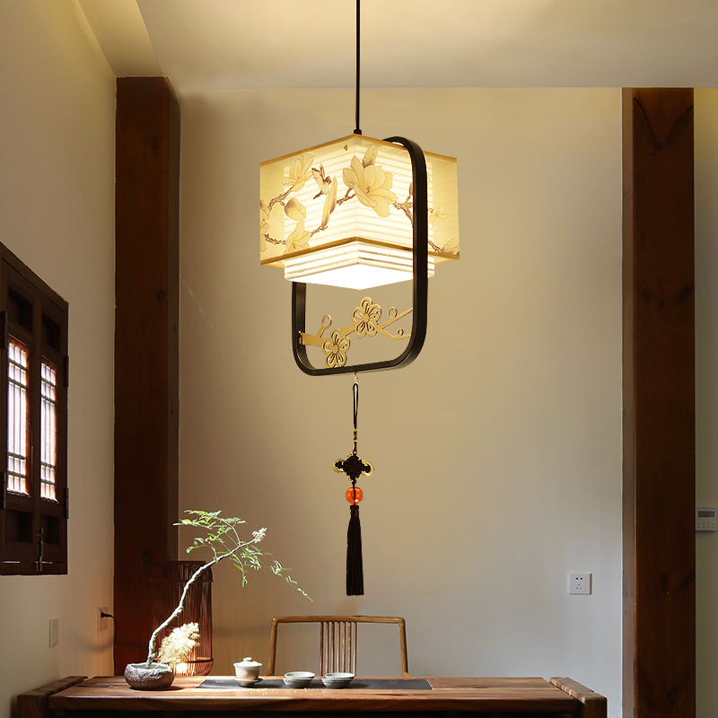 New Chinese Pendant Lamp Single-ended Creative Bedside Lights Bar Concise  Hallway Dining Room Hanging Lamp Zen Light Fixtures
