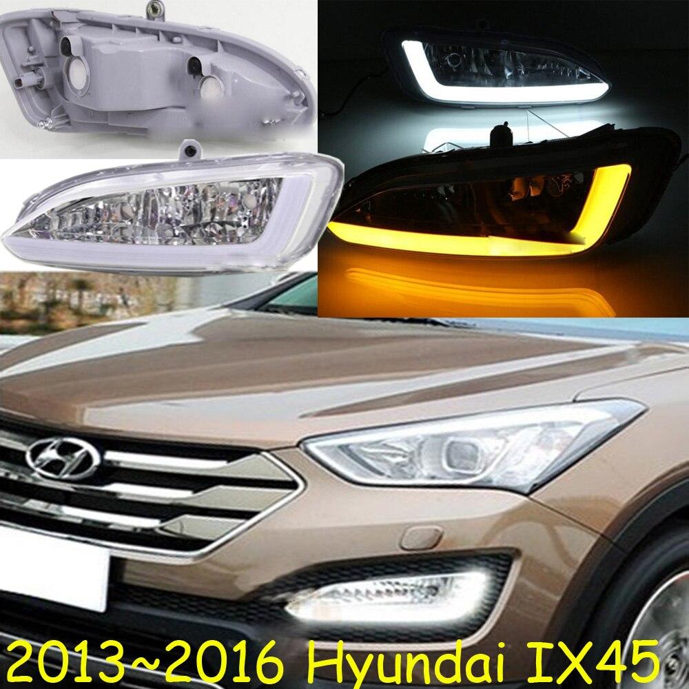 Автомобиль-стайлинг,IX45 дневного света,2013~2016,хром,светодиодные,Бесплатная доставка!2шт,автомобиль-детектор,IX45 противотуманные фары,авто-чехлы,Санта Фе, ix35, стал