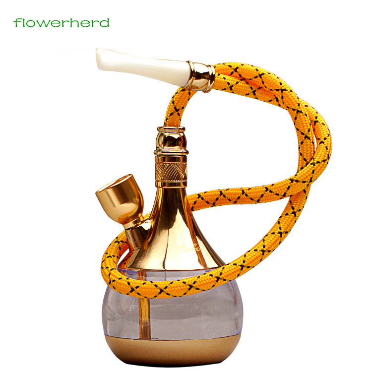 Portable Glass Hookahs Shisha Cigarette Tomacco Dual-use Shisha Hookah Water Pipe Glass for Hookah Shisha Herb Grinder