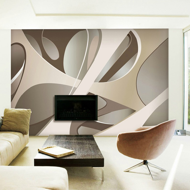 Custom Photo Wall Paper Modern Living Room 3D Abstract Geometric Non-woven Large Wall Painting Mural Wallpaper Papel De Parede custom 3d photo wallpaper children room bedroom cartoon forest house background decoration painting wall mural papel de parede