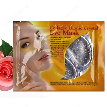 Wholesale Crystal Collagen Gold Powder Eye Mask Gold Foil Collagen Eye Masks