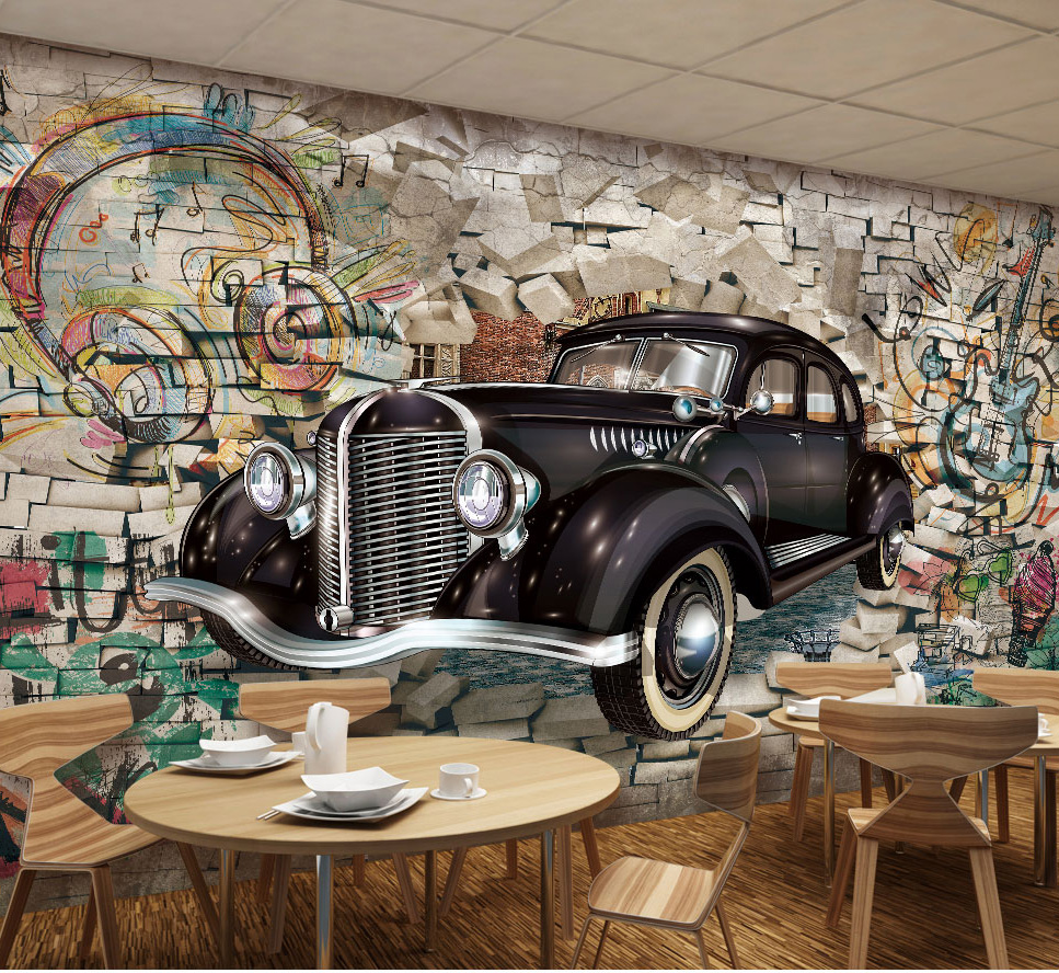 Bacaz 8d Space Stone Music Car Wallpaper Mural For Restaurant Bar Cafe Coffee Background 3d Photo Mural Wall Paper Wall Decor Wallpapers Aliexpress