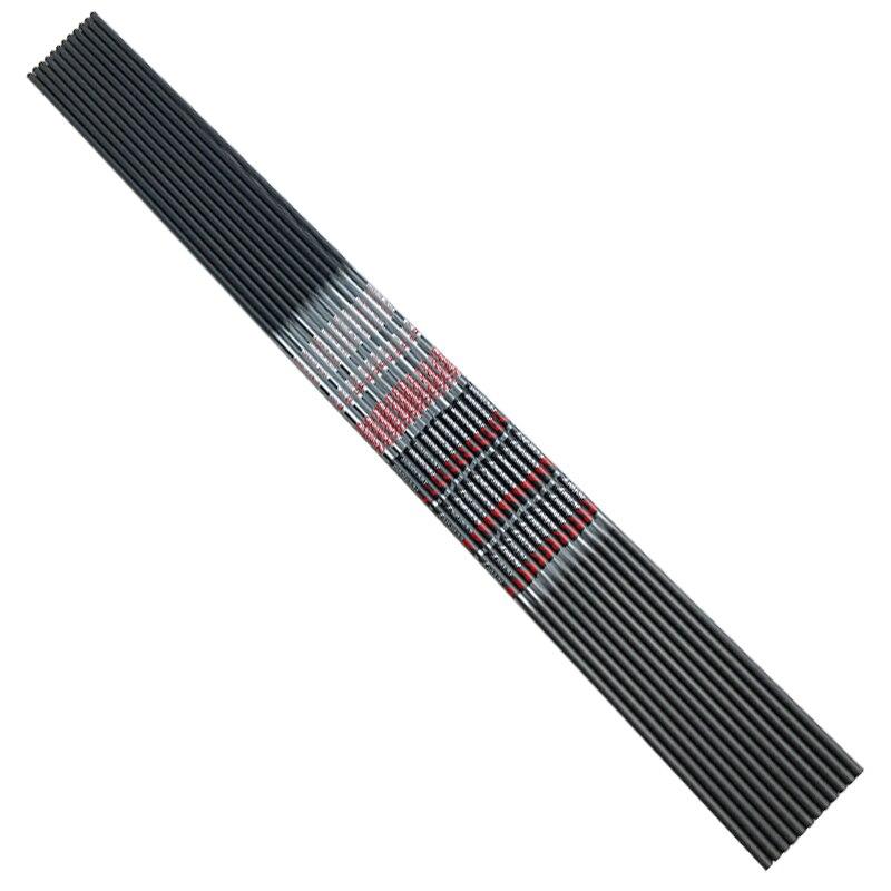 Archery 12pcs Pure Carbon Arrow Shafts Spine350 900 ID4 2mm 30inch Receuve Bow Archery Arrow Shaft