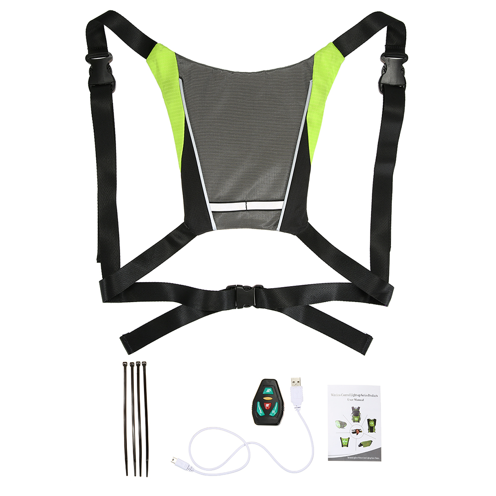 Back To Search Resultssports & Entertainment Lixada Bicycle Bag Usb Reflective Vest With Led Turn Signal Light Remote Control Sport Safety Bag Gear For Cycling Jogging Convenience Goods