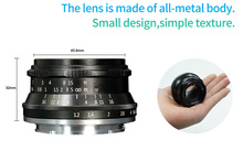 7artisans 35mm F1.2 Prime Lens for Sony E-mount / for Canon EOS-M / for Fuji XF APS-C