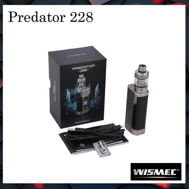 100% оригинал Новый wismec Хищник 228 комплект с elabo бак 4.6 мл распылитель НС тройной 0.25ohm катушки Predator 228 mod Комплект