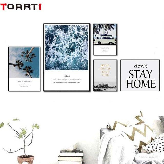 Modern Landscape Home Decor Nordic Wall Art Poster Prints Canvas