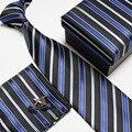 Hombres alta calidad corbata Set moda corbatas de seda corbatas pañuelos gemelos caja de regalo de bolsillo toalla #17