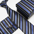 Men's High Quality Neck Tie Set Fashion silk ties Neckties Handkerchiefs Cufflinks Gift Box Pocket towel #17