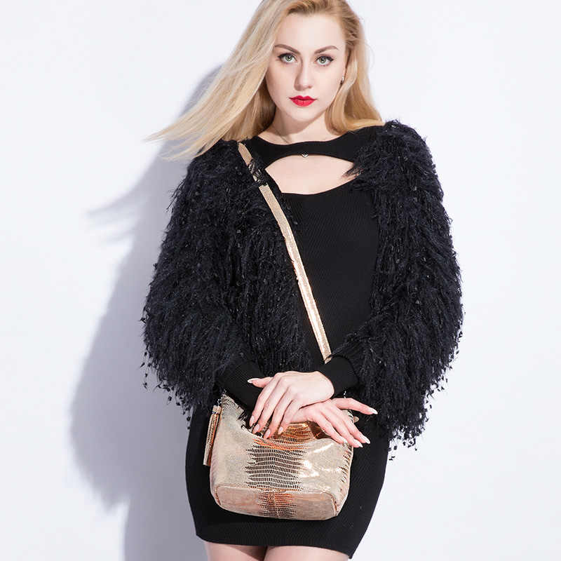 Women handbag genuine leather crossbody shoulder bags female hobos bag animal prints leather messenger bags for ladies