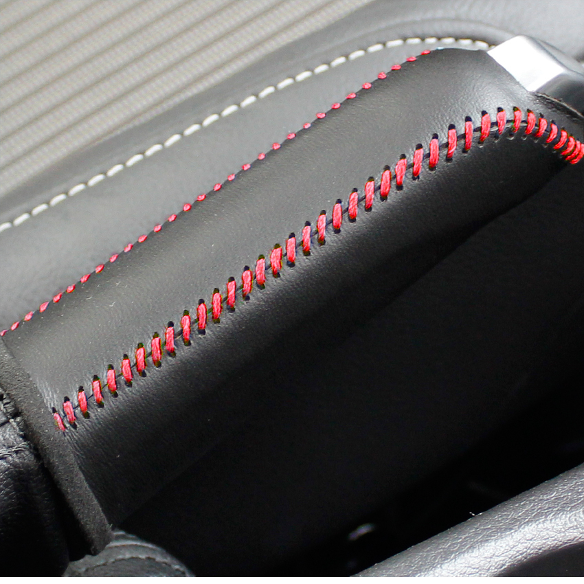 Case For Ford  Focus 1.6L 2012 Handbrake Cover  Auto Supplies Genuine Leather Interior Decoration DIY Car Styling