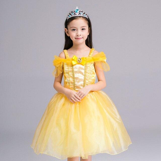 0e1800ccd 2017 Children Beauty Belle Halloween Costume Princess Dress princess ...