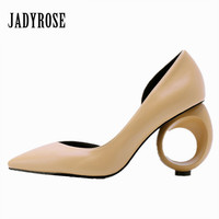 Jady Rose 2018 New Strange Heel Women Pumps Pointed Toe High Heels Female Wedding Dress Shoes Woman Stiletto Valentine Shoes