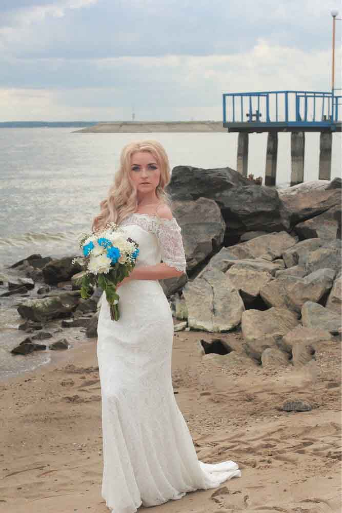 Billige Kaufen JIERUIZE White Lace Boho Mermaid Trouwjurken