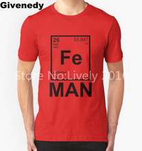 Fe Man Iron science chemistry Mens & Womens High quality Tops Personalized T Shirt