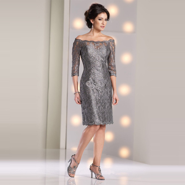 Short Grey Mother of the Bride Dresses