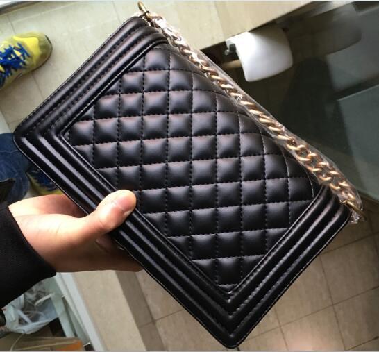 HOT Classics femmes sacs à main de haute qualité rabat sacs à bandoulière fourre-tout tout nouveau carré rayé sac chaîne en cuir sacs à main